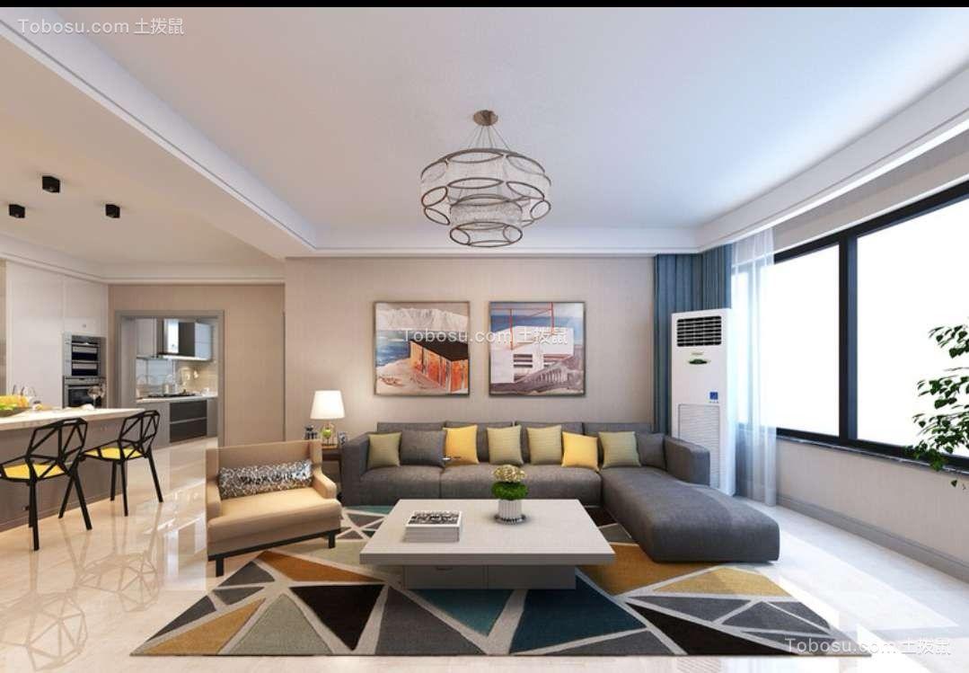 新迎小区139平现代简约三房装修效果图