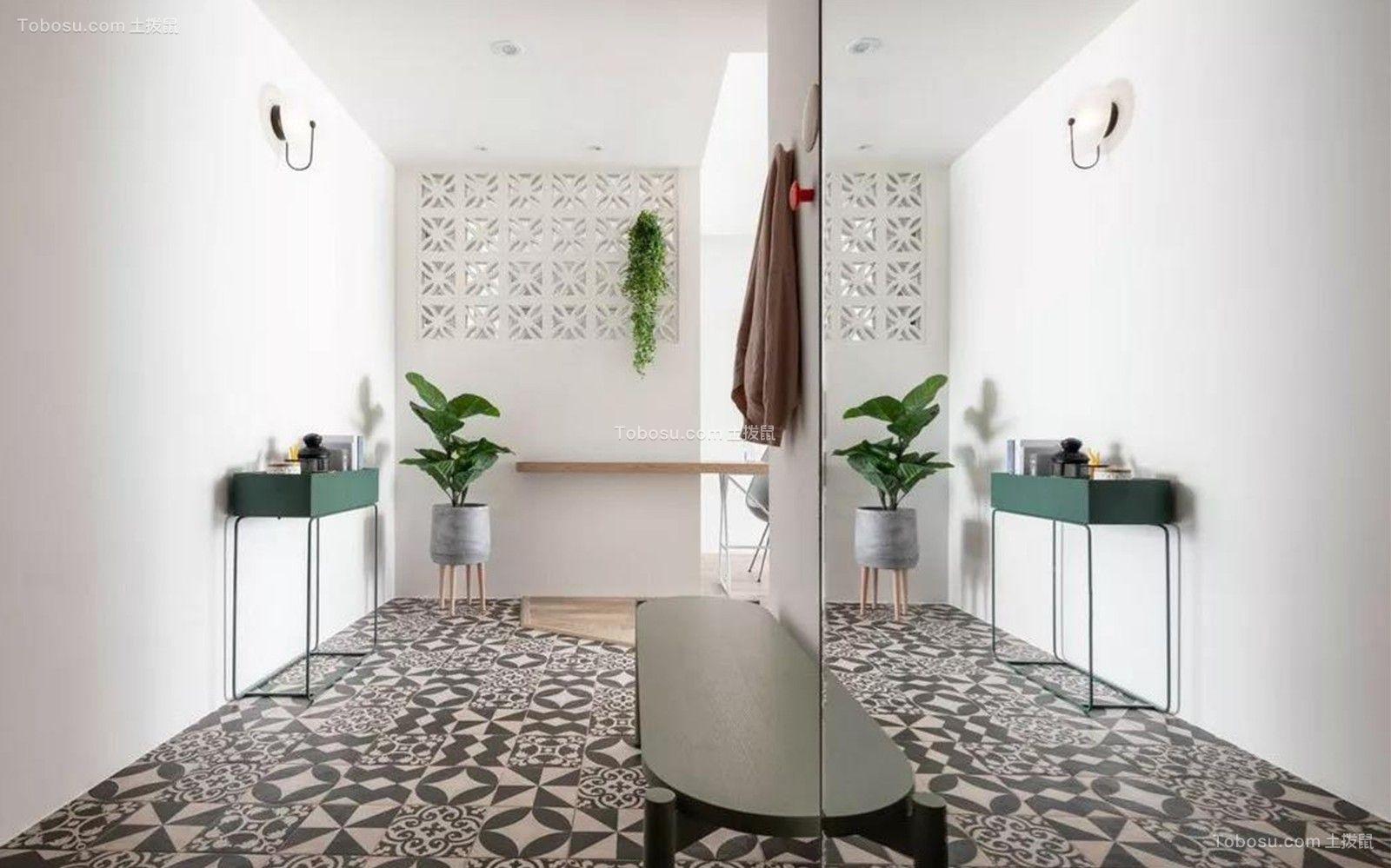 89平现代风格二居室装修效果图