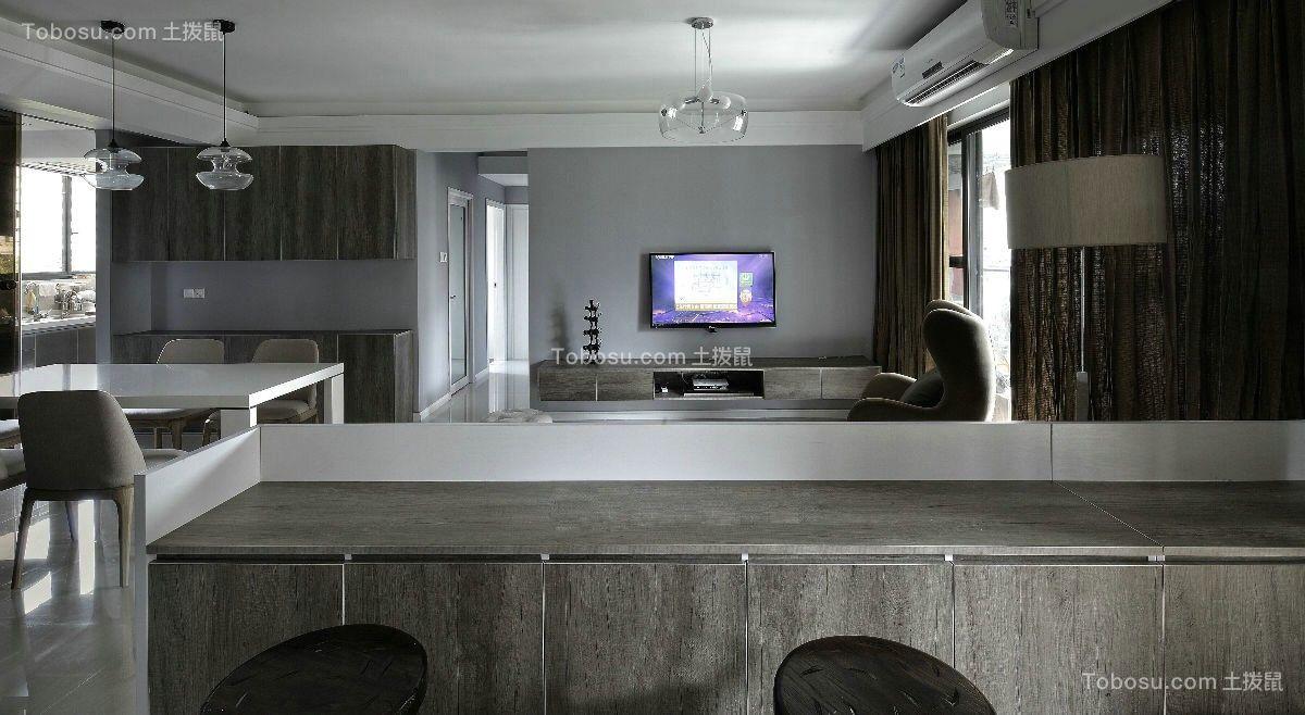 2019简约客厅装修设计 2019简约地板砖设计图片