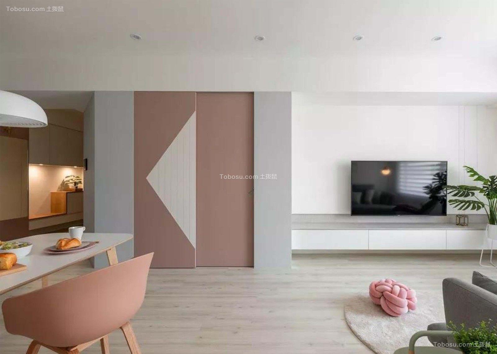 2019现代起居室装修设计 2019现代推拉门设计图片