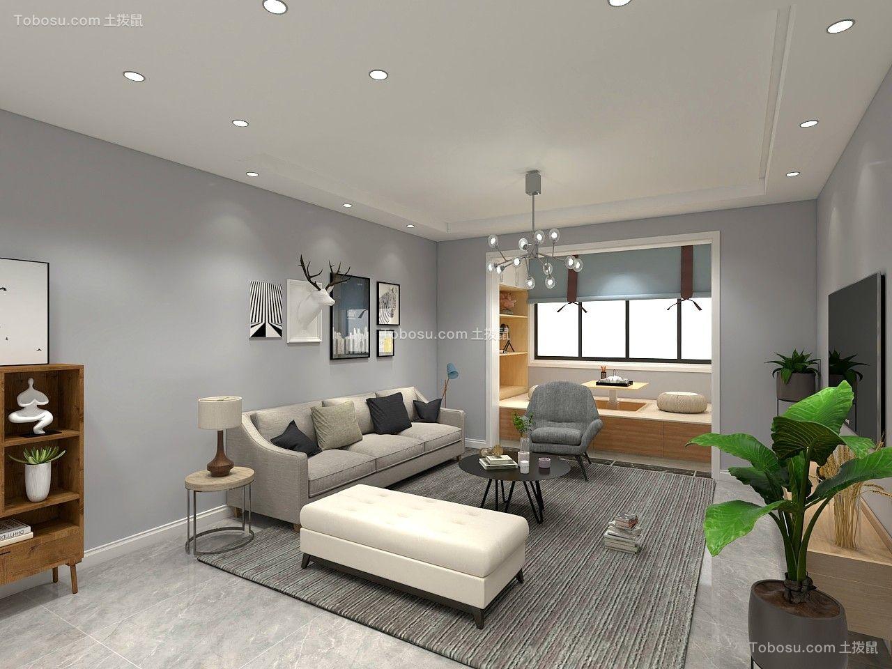 132平米现代风格四居室11万效果图