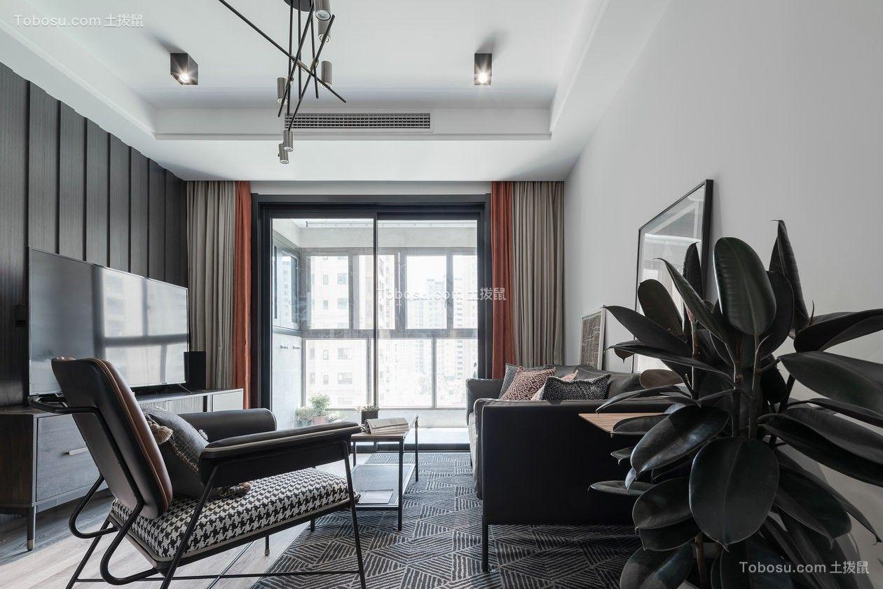 90平方米后现代风格2居室效果图