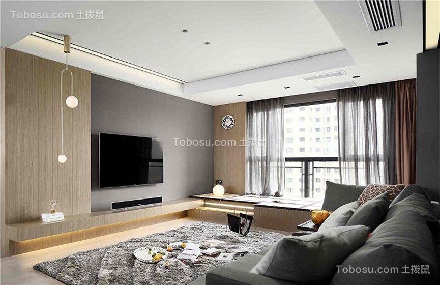 92平方米混搭风格一居室装修效果图