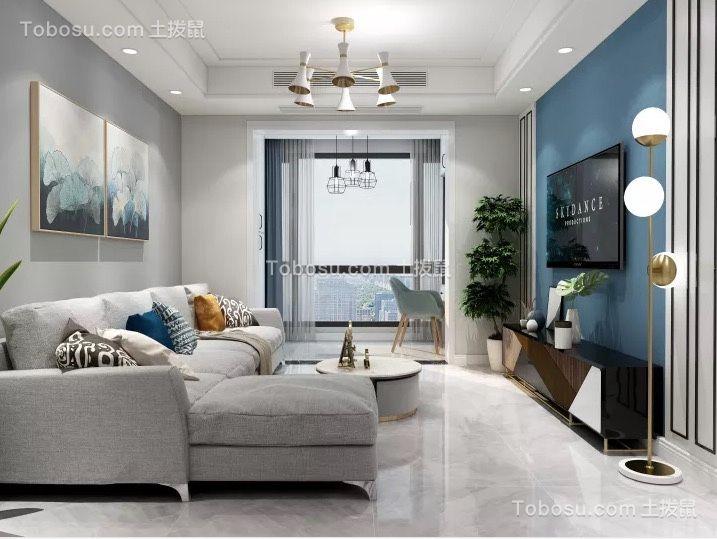 德邦翠馨居89平现代两居室装修效果图