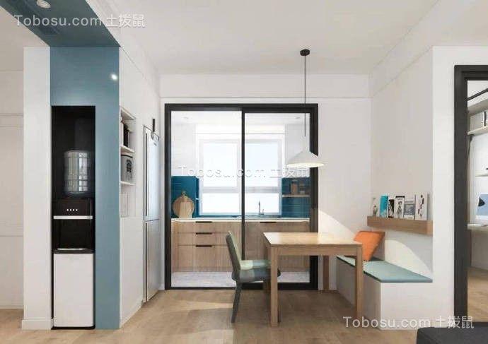 简约现代风格110平米三居室餐厅效果图