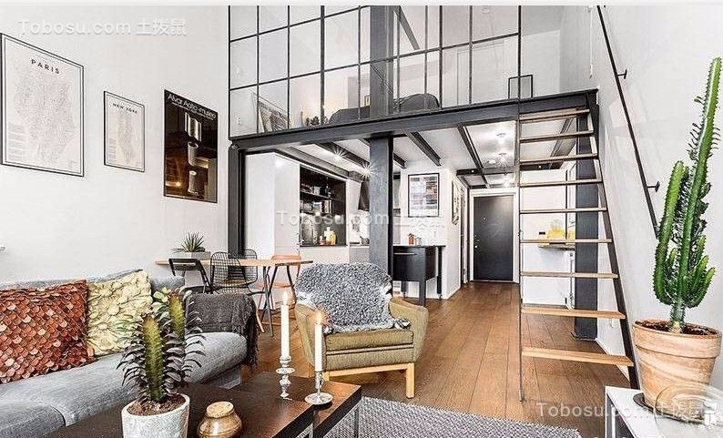 55平米loft公寓简约风格案例欣赏