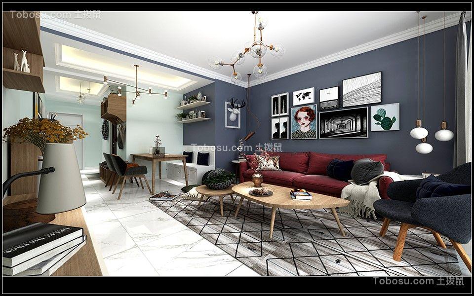 万科御龙山85m²北欧风格三房装修案例