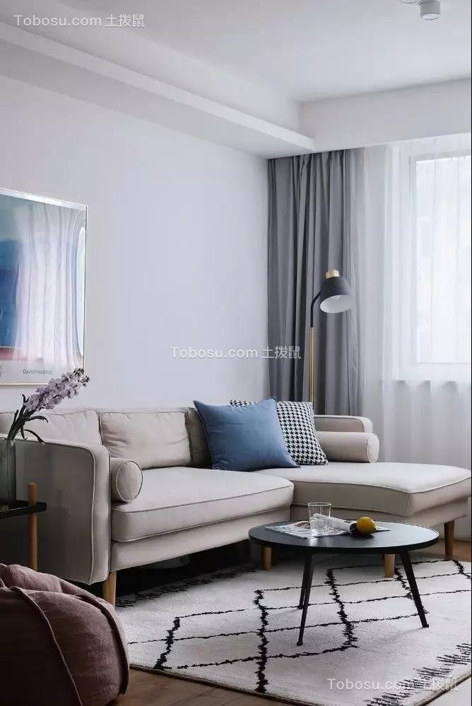 69㎡舒适北欧2室2厅图片欣赏