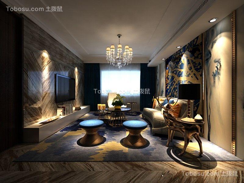 天赐椿城160m²现代轻奢三房装修效果案例