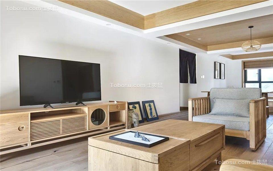 2019日式客厅装修设计 2019日式茶几效果图