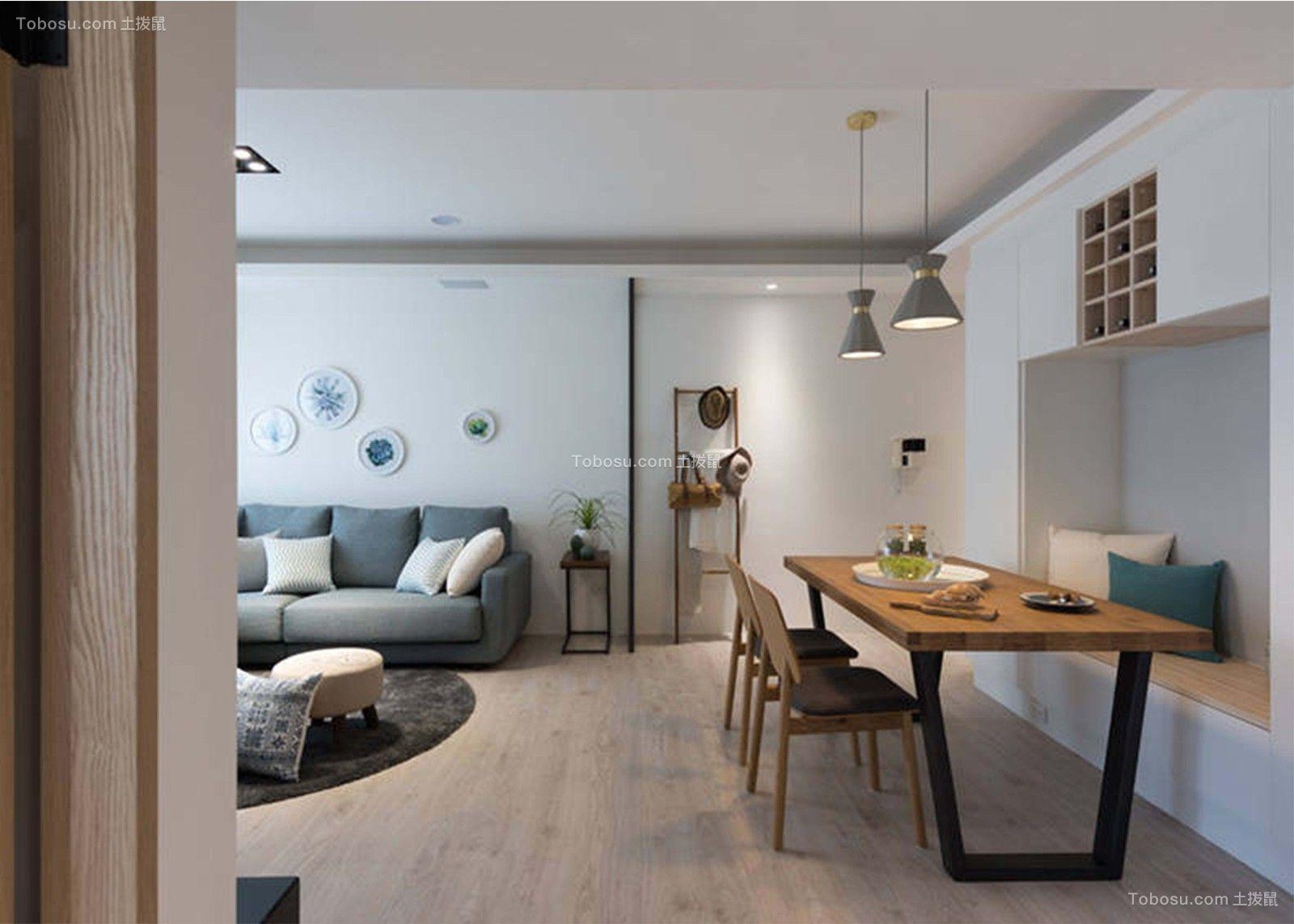 2020北欧起居室装修设计 2020北欧地板效果图