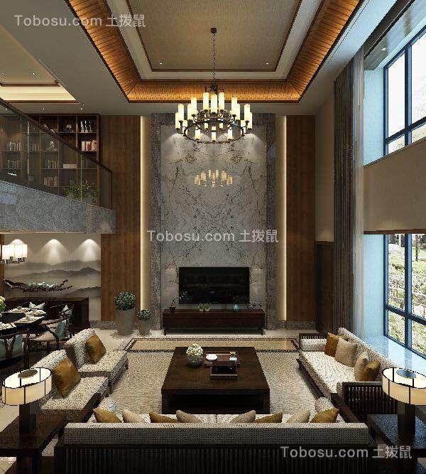 思兰雅苑300㎡五室三厅中式风装修效果图