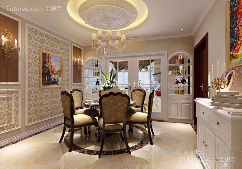 浅水湾200㎡四室两厅美式风格餐厅效果图