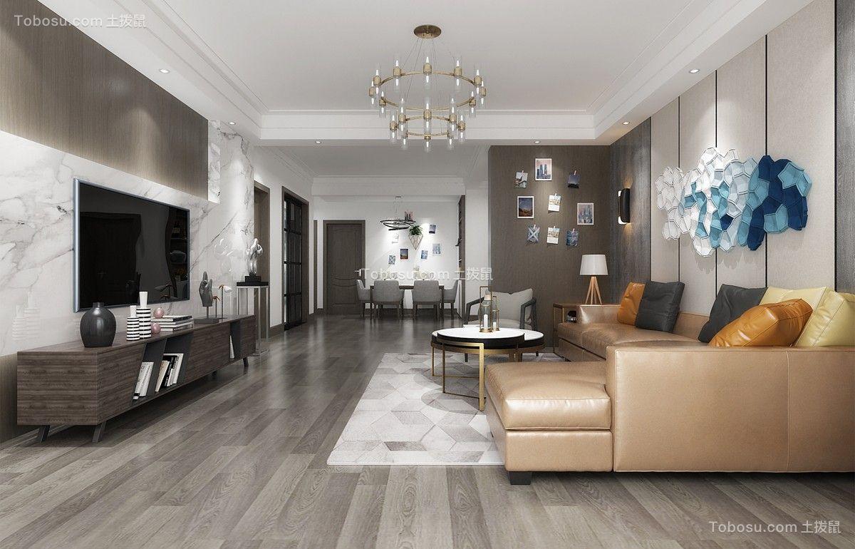 佳馨园124平米三室两厅现代简约