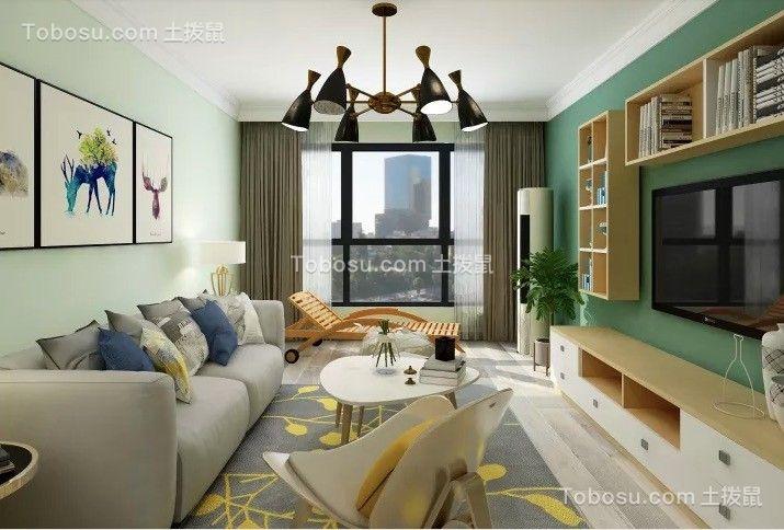 湖滨公馆98平现代三居室装修效果图