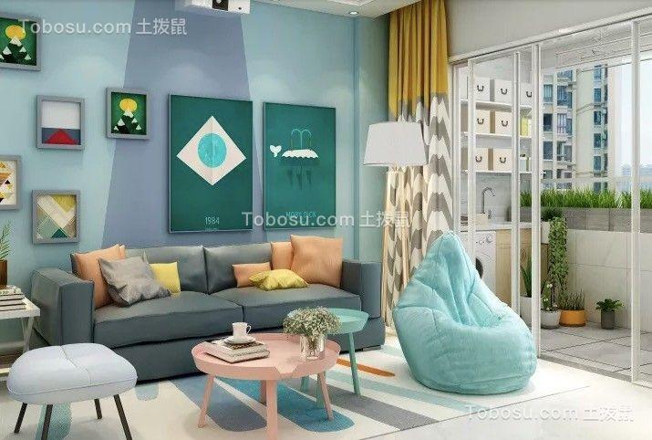 天下锦城88平北欧三室装修效果图