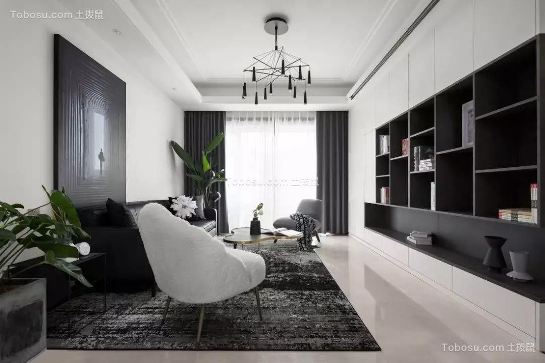 128㎡现代主义3室2厅轻奢气质设计效果图