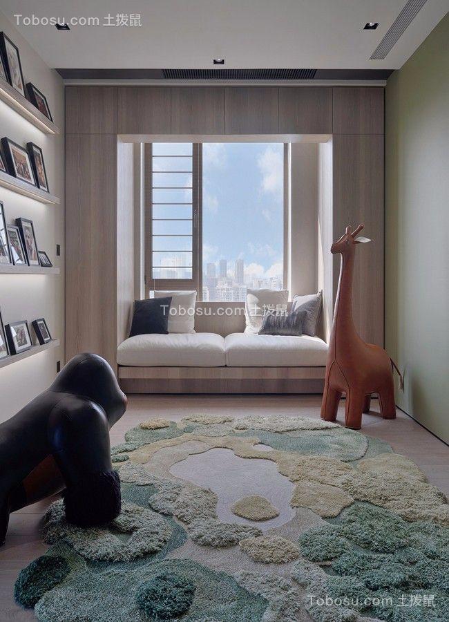 2019现代简约儿童房装饰设计 2019现代简约飘窗装修效果图大全