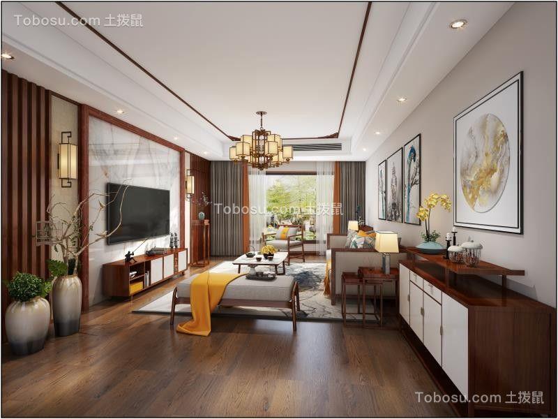金悦湾200平米四居室新中式风格