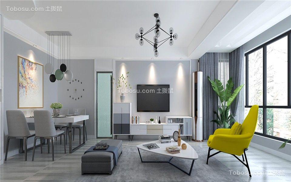 万佳润泽园127㎡现代简约3室2厅1卫样板房