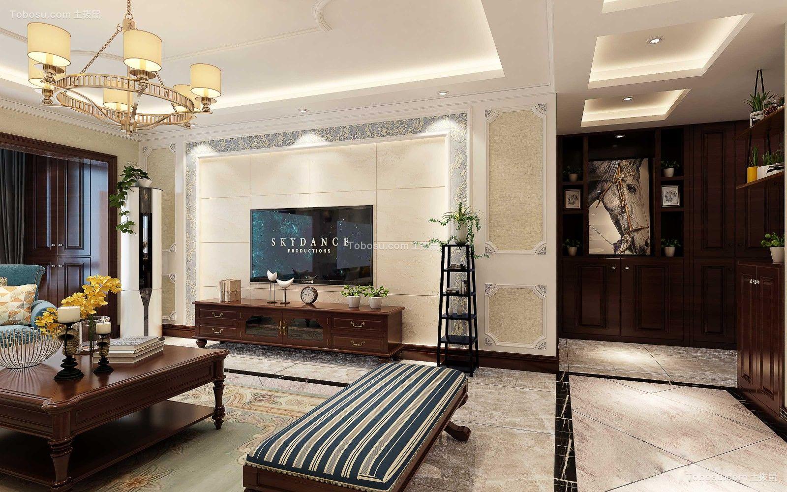 西港星汇国际121㎡美式风格3室2厅2卫