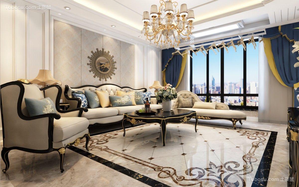 保利领秀山160平欧式风格4室2厅2卫效果图