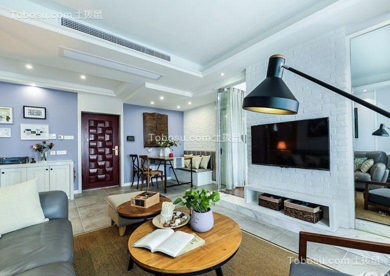 2室1卫2厅90平米北欧风格案例欣赏