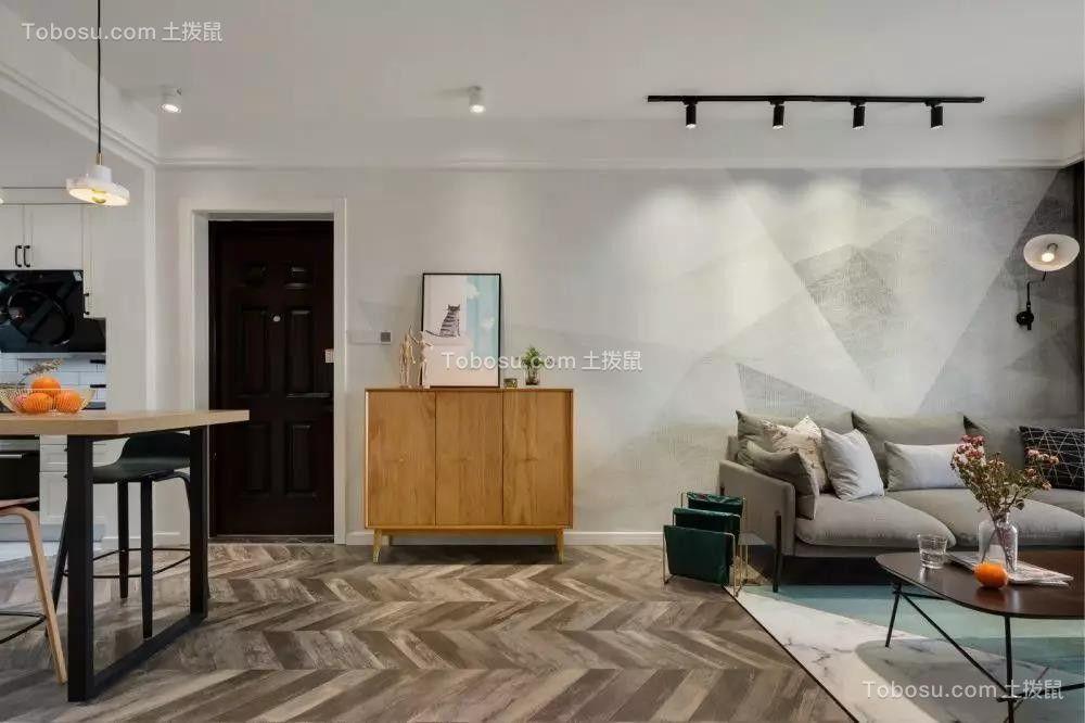 78㎡北欧现代2室2厅温馨格调装修设计