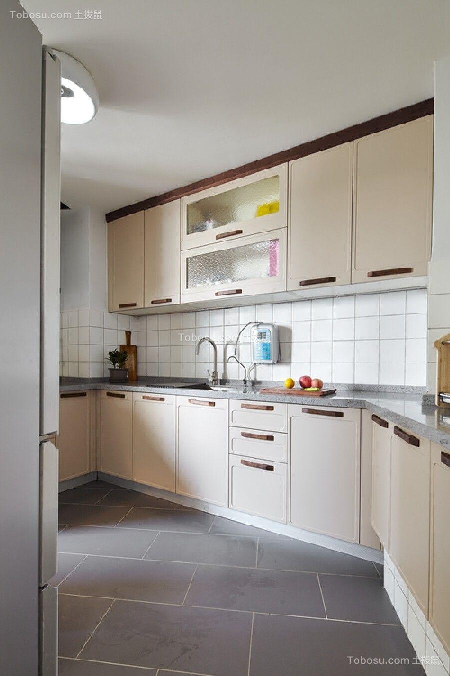 90平静谧北欧生活套房厨房效果图欣赏
