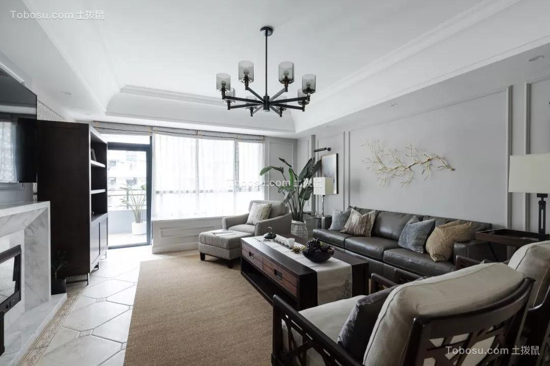 120平优雅美式四居室装修效果图