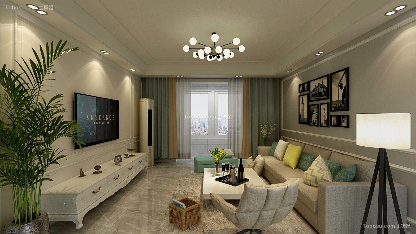 2021混搭客厅装修设计 2021混搭背景墙图片