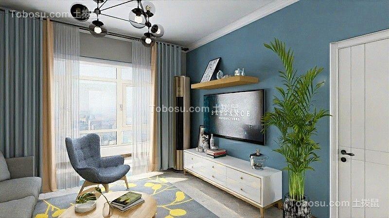 2020北欧客厅装修设计 2020北欧电视柜装修效果图片