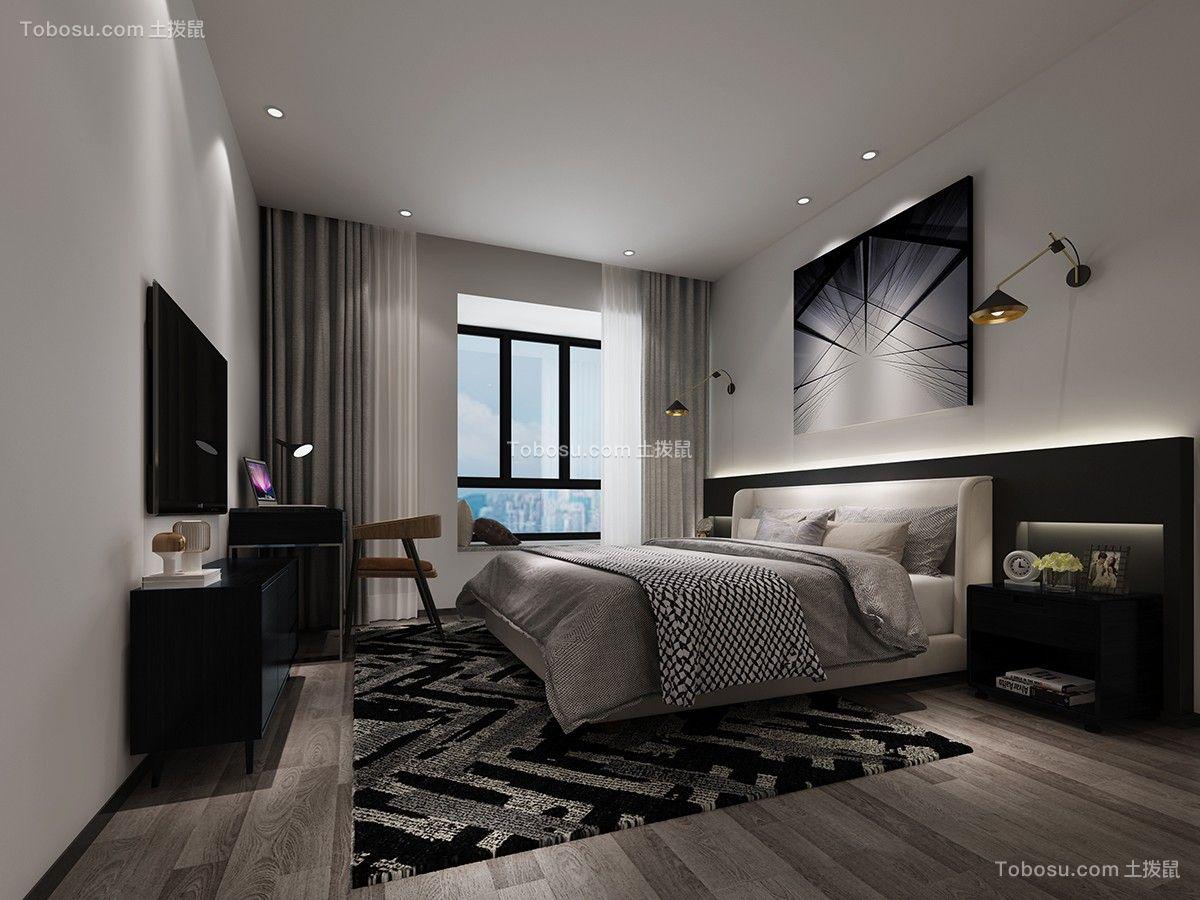 2019现代简约卧室装修设计图片 2019现代简约电视背景墙装修图