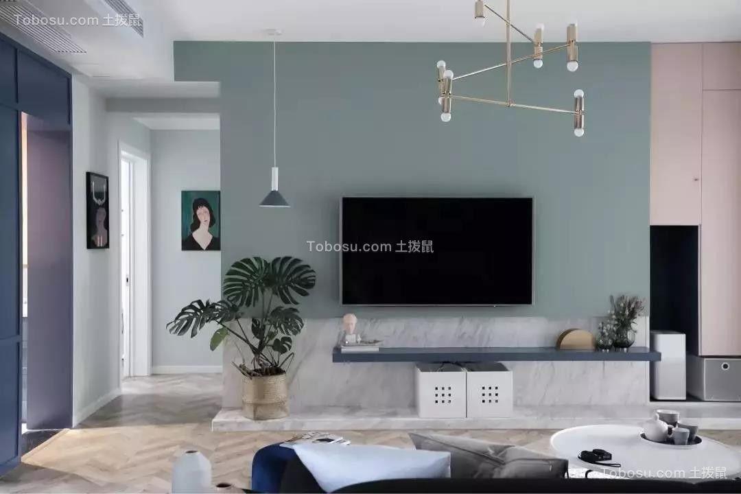 135㎡舒适北欧风格3室2厅浪漫文艺效果图