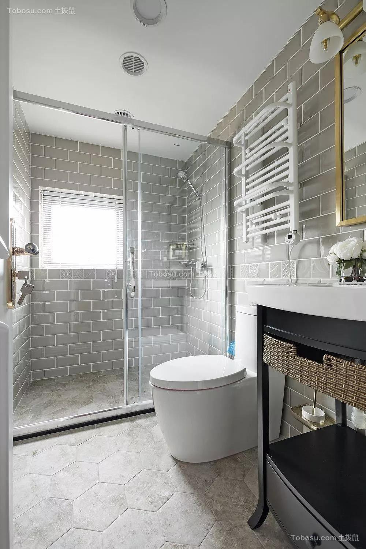 2019美式卫生间装修图片 2019美式地板砖设计图片