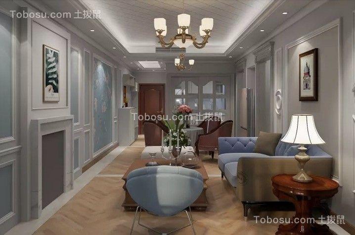 和平家园89平美式三室装修效果图