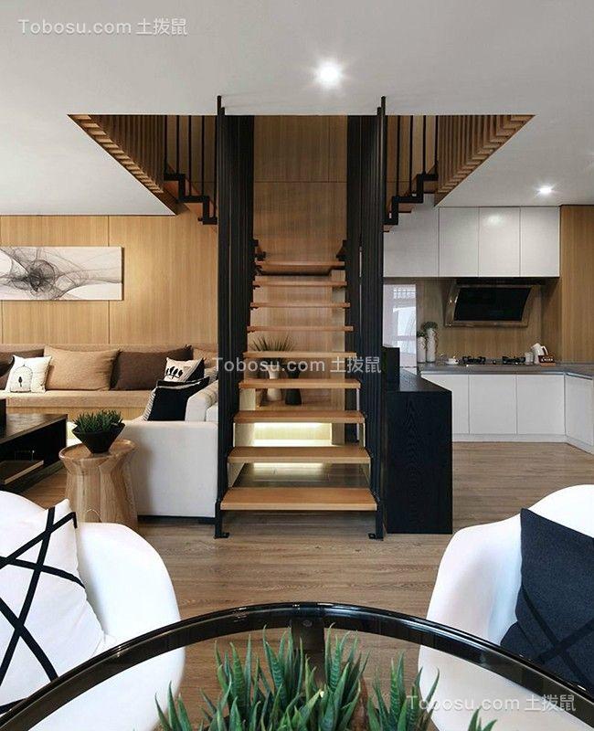 2020现代简约客厅装修设计 2020现代简约楼梯装修设计