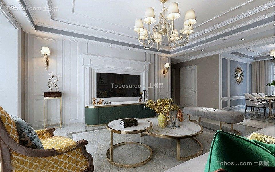 2019美式客厅装修设计 2019美式地砖装修效果图大全