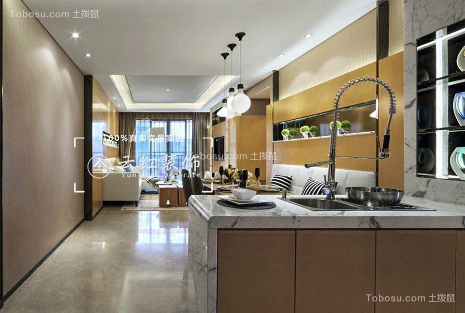 2019现代简约厨房装修图 2019现代简约吧台装修设计图片