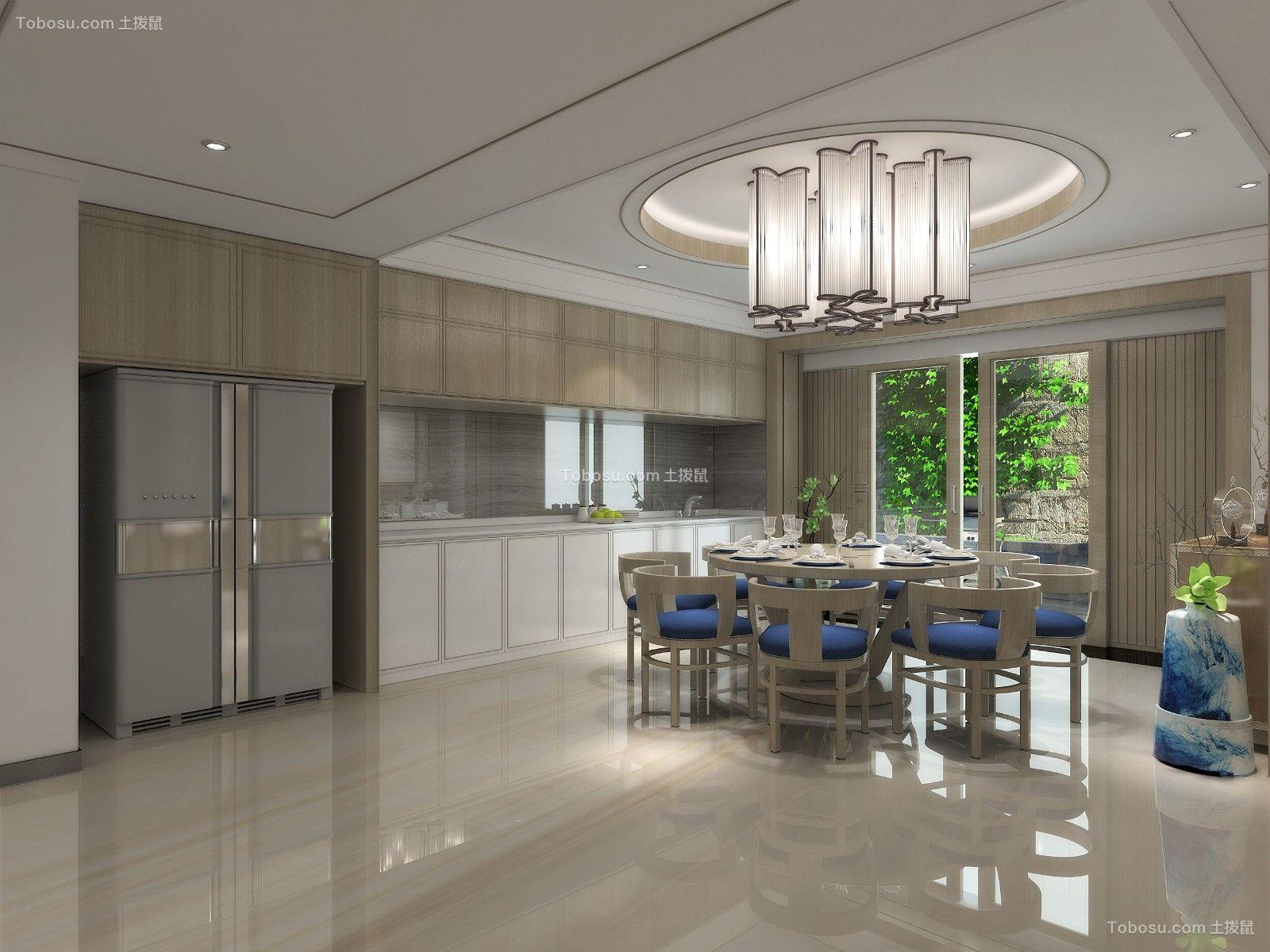 2019中式餐厅效果图 2019中式地板砖设计图片