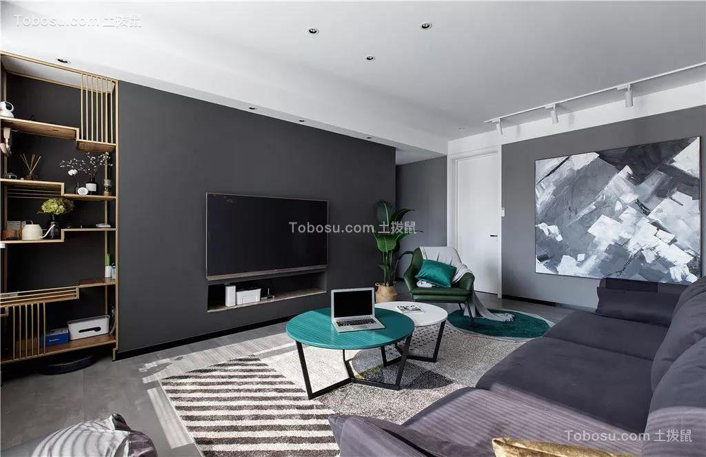 131㎡现代主义三室两厅高级灰营造轻奢时尚感