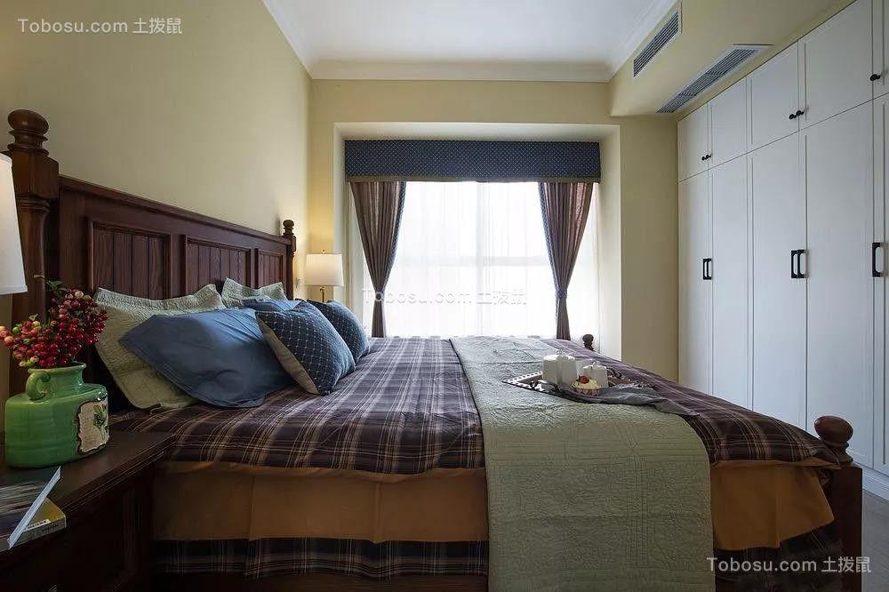 2019美式卧室装修设计图片 2019美式落地窗图片