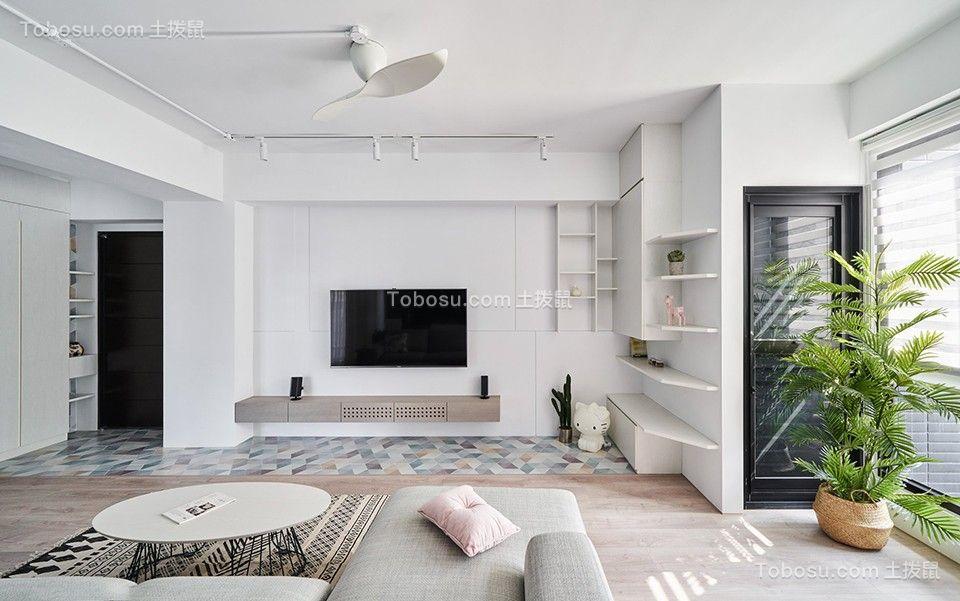 140平米现代简约三居室装修效果图