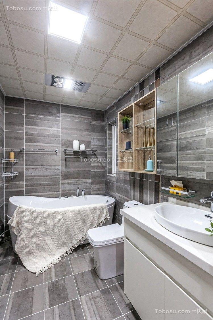 2020混搭浴室设计图片 2020混搭浴缸装修效果图大全