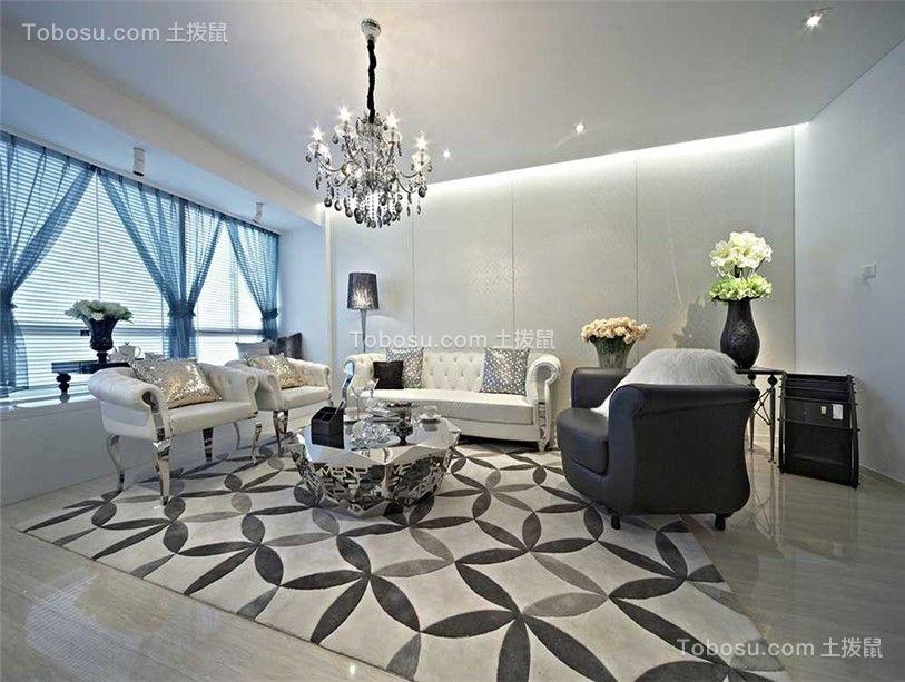 152平豪华美式风格三居室效果图
