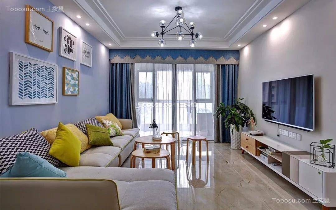 嘉怡龙城湾91平现代简约二居室装饰效果图