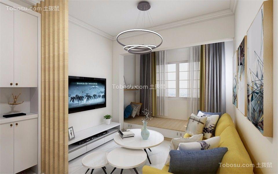 天赐椿城83㎡现代简约二居室客厅效果图