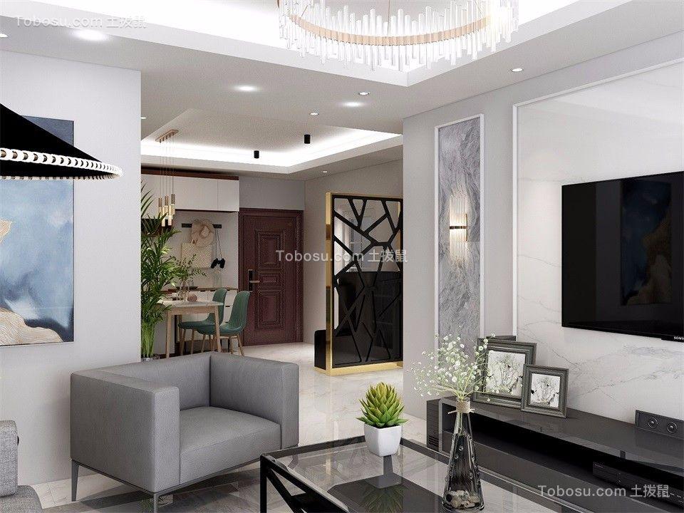 2019现代客厅装修设计 2019现代隔断图片