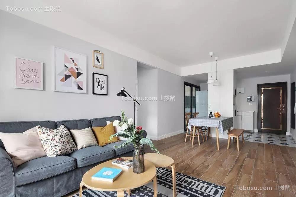 68㎡舒适北欧二室两厅清新美好小情调图片