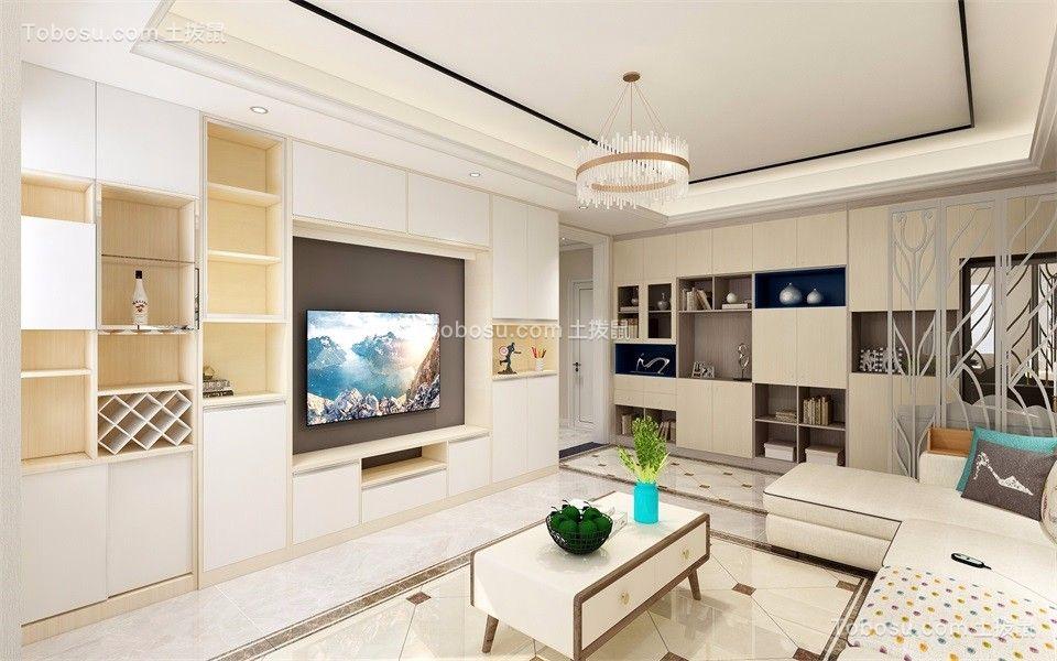 天赐椿城95㎡简约两居室装修清新舒适案例图片
